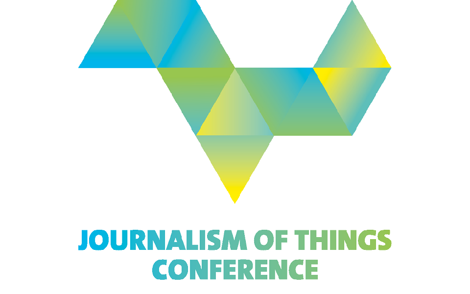 "Im Bild steht ""Journalism of Things Conference""."